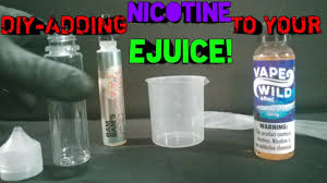 Vape Wild Diy Chart Adding Nicotine To Our Ejuice With Vapewilds Diy Products