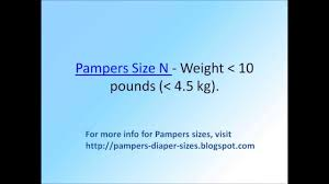 Pampers Swaddlers Weight Chart Pampers Size Chart By Weight Youtube