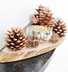 diy pinecone candle holder view in gallery