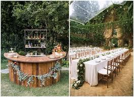 outdoor wedding reception decorations