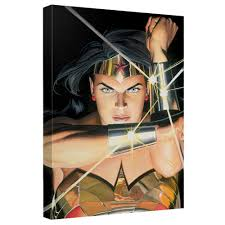 on wonder woman canvas wall art with wonder woman bracelets painted by alex ross canvas wall art wb shop