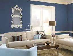 blue interior paintbeige and blue contrast walls  Behr Paint Colors Interior