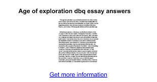 age of exploration dbq essay answers google docs