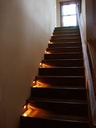 stair lighting ideas. Wooden Staircase With Chic Stair Lighting Interior For Modern Home Ideas E
