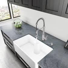 Farmhouse Apron Kitchen Sinks Vigo 36 Inch Farmhouse Apron Single Bowl Matte Stone Kitchen Sink