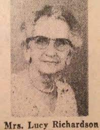 """Lucy Hays """"Miss Lucy"""" Reed Richardson (1877-1960) - Find A Grave Memorial"""