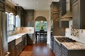 Kitchen Paint Colors With Dark Cabinets Kitchen Traditional With Apron  Front Sink Arch