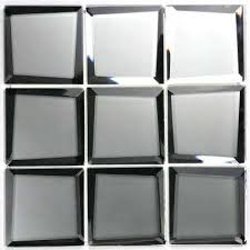 silver 3d beveled square 9 in x 9 in x 5mm silk matte super