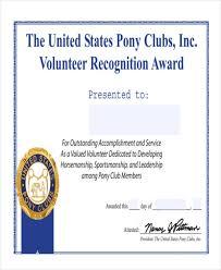 Certificate Of Appreciation Volunteer Work Free 47 Award Certificate Examples And Samples In Word