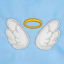 Angel Wings Applique Design Angel Wings With Halo Applique Embroidery Design 5 Sizes