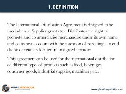 International Distribution Agreement Template
