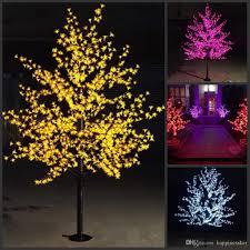 Blossom Christmas Tree With Led Lights 2m 6 5ft Height Led Artificial Cherry Blossom Trees Christmas Light Led Bulbs 110 220vac Rainproof Fairy Garden Decor Christmas Decorations For Kids