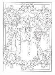 art nouveau designs coloring book additional photo inside page