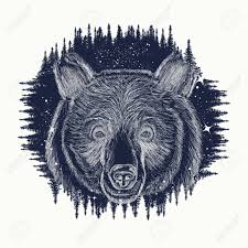 Bear Tattoo Art Symbol Travel And Tourism Portrait Grizzly