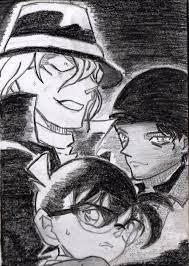 Detective Conan - Gin x Conan x Shuuichi Akai by MemetRukimat on DeviantArt