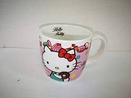 Get up to 70% off now! Amazon Com Hello Kitty Pink Donut Coffee Mug Cup Kitchen Dining