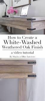 white wash furniture. Creating A White-Washed Weathered Oak Finish- Video Tutorial - Shades Of Blue Interiors White Wash Furniture