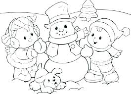 Winter Coloring Pages Free Printable Simple Winter Coloring Pages