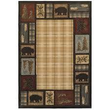 oriental weavers of america hideaway indoor lodge area rug common 5 x 8