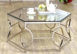 geometric coffee table chrome w glass of australia