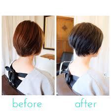 ショートヘアーちょっとした段のつけ方の違いで劇的に変わる