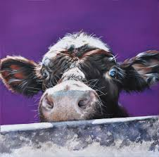 canvas prints vicky palmer wiltshire based portrait artist regarding cow on remodel 7 on two cows canvas wall art with portrait of a highland cow canvas art by dorit fuhg icanvas intended
