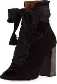 chlo suede peeptoe laceup bootie stiff soled shoes64