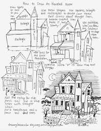 Drawn haunted house basic house - Pencil and in color drawn ...