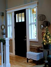 White Door Black Trim Blogger House Tours Front Doors Doors And Moldings