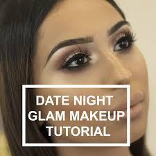 date night glam makeup tutorial