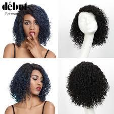 <b>Debut Lace Frontal Human</b> Hair Wigs Brazilian Afro Kinky Curly Hair ...