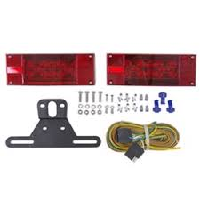 6x4 inch led trailer tail lights that mount on studs on 2 inch waterproof over 80 led trailer light kit 25 wiring harness