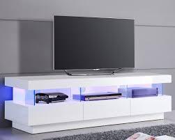 Meuble Tv Design Blanc Avec Clairage Led Int Gr Id Es Pour La