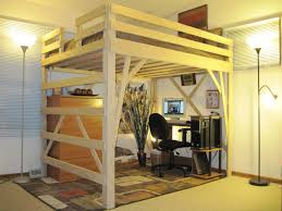 Loft Bedroom Awesome Plywood Loft Bed