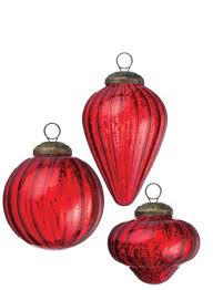 red mercury glass ornaments vintage