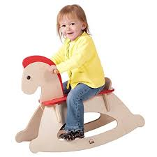 hape rock and ride wooden rocking horse