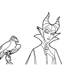 Small Picture Disney Villain Character Maleficent Coloring Pages Color Luna