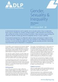 gender sexuality and inequality