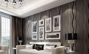 modern living room wallpaper ideas black grey color