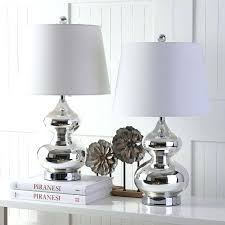 silver table lamps lighting inch double gourd glass silver table lamp set of 2 silver table