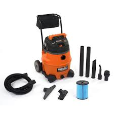 ridgid 16 gal 6 5 peak hp wet dry vacuum wd1851 the home depot ridgid 16 gal 6 5 peak hp wet dry vacuum