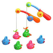 Bath Toys For Kids Age 3 4 5 Bathtub Fun Fishing Game Cute Spotted Fish Rod Ideal Gift for Toddlers Boys Girls Children