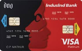 indusind bank duo card all in one card