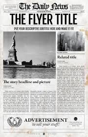 Old Fashioned Newspaper Article Template 2x1 Page Newspaper Template Adobe Indesign 8 5x11 11x17