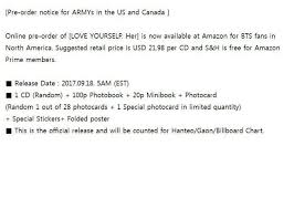 Amazon Uk Pre Order Chart Where To Buy Bts Love Yourself Tear Album From J Hope Amino