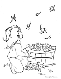 Small Picture Tree leaves coloring page 002