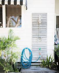 beach style outdoor shower