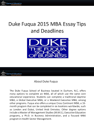 duke mba essays duke fuqua application essays anne steptoe duke mba entrepreneur beside the fuqua sign