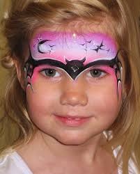 girls version of cool batman face painting by becstar design