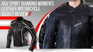 agv sport diamond womens leather motorcycle jacket review